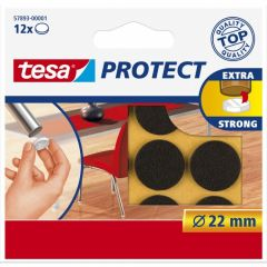 Tesa protect vilt bruin 22 mm. - 12 stuks
