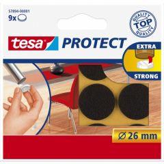 Tesa protect vilt bruin 26 mm. - 9 stuks