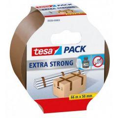 Tesa tesapack extra strong verpakkingstape bruin - 66 m x 50 mm.