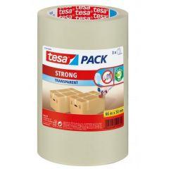 Tesa tesapack strong verpakkingstape transparant 66 m x 50 mm. - 3 stuks