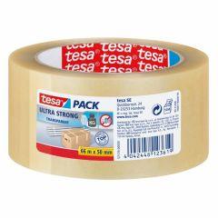 Tesa tesapack ultra strong verpakkingstape transparant - 66 m x 50 mm.
