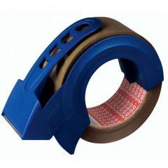 Tesa verpakkingstape bruin + handafroller - 66 m x 50 mm.