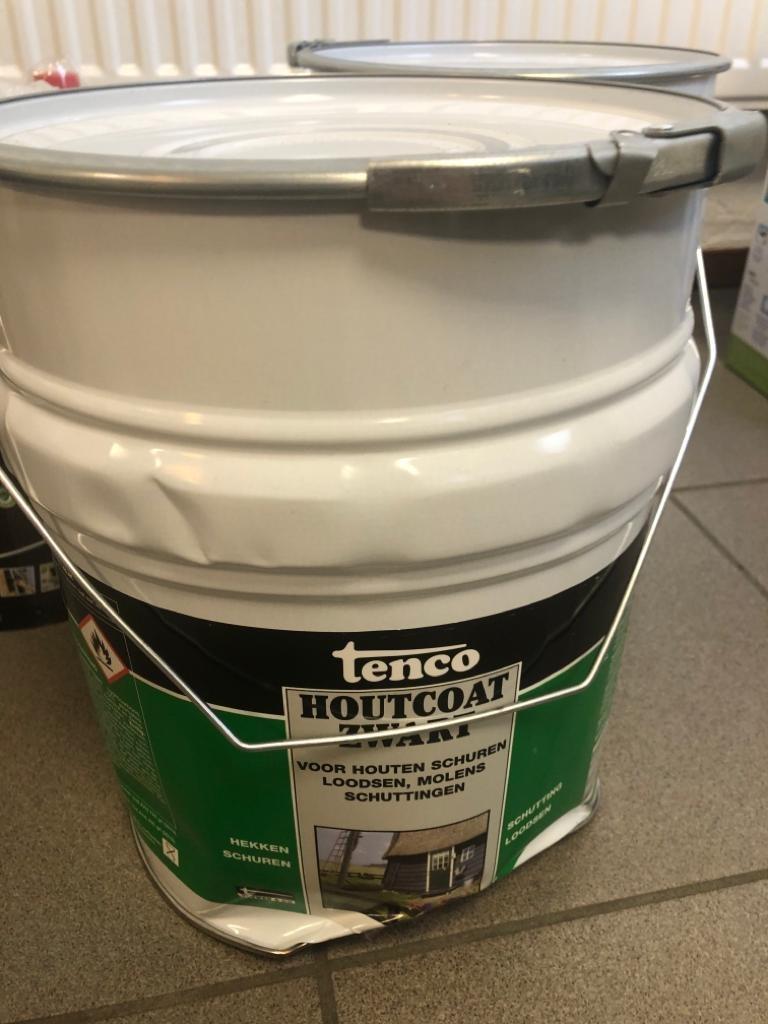 Tenco houtcoat zwart - 10 liter