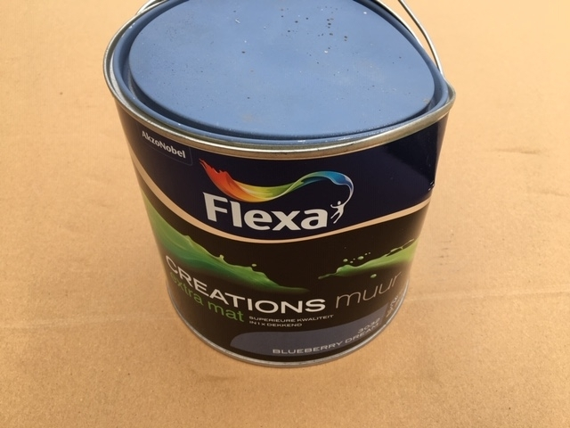 Flexa creations muurverf extra mat blueberry dream 3032 - 2,5 liter