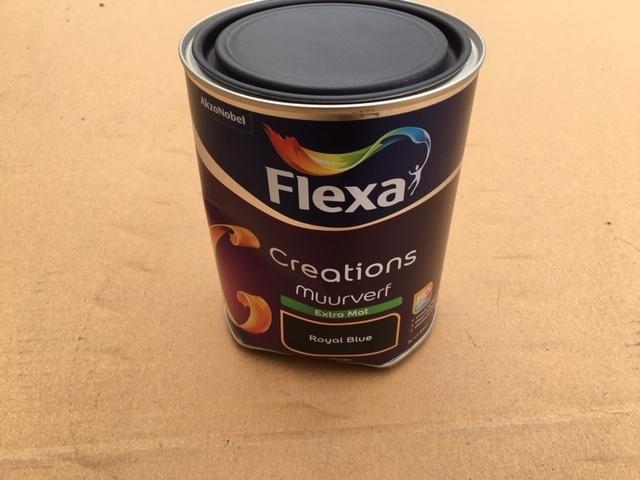 Flexa creations muurverf mat royal blue - 1 liter