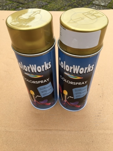 Motip Colorspray hoogglanslak goud - 400 ml.